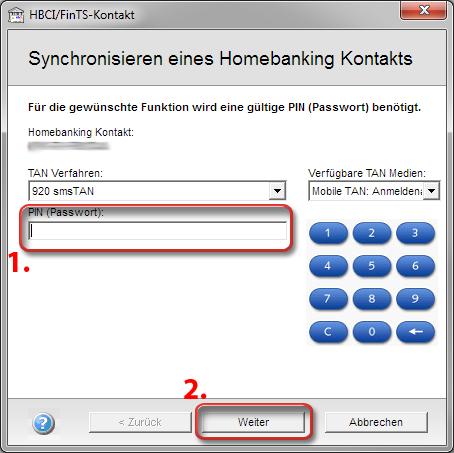 Synchronisierung eines HBCI Bank-Kontaktes – windataWIKI